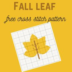 Fall leaf - free cross stitch pattern