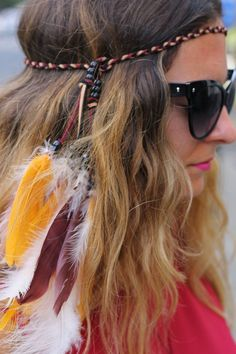 FSU Seminoles Native American Feather by enchantedheadwear on Etsy Fsu Game, State Game, Hippie Hair, Garnet And Gold, Florida State Seminoles, Feather Headband, Sporty Girls, Football Season
