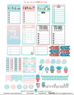 Free planner stickers printable for the Classic Happy Planner or other similar planners. Free for personal non-commercial use only. To Do Planner, Free Planner, Planner Pages, Happy Planner, 2015 Planner, Blog Planner, Planner Tumblr, Pages D'agenda, Planner Bullet Journal