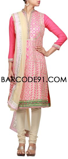 Buy it now http://www.barcode91.com/a-patch-work-dress-in-pink-and-gold-by-b91-exclusive.html A patch work dress in pink and gold by B91 Exclusive