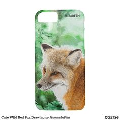 Cute Wild Red Fox Drawing iPhone 7 Case