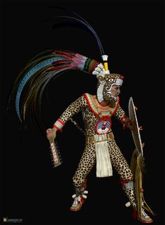 These are some of the characters,. I had the pleasure to work not long before. 'Jaguar knight' being the AAA version and other 'Aztec Warriors' at a handheld poly budget. Aztec Headdress, Aztec Statues, Aztec Costume, Aztec Mask, Aztec Symbols, Maya Civilization, Ancient Aztecs, Aztec Warrior, Indigenous Art