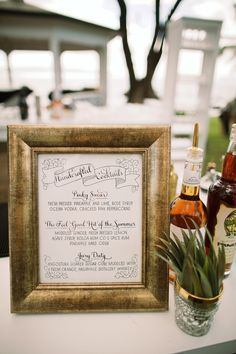 Calligraphy bar sign by Miss B. Calligraphy. Mia and RJ's Wedding in Maui, Hawaii <br/>by Anna Kim Photography
