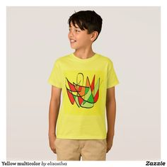 Yellow multicolor camiseta