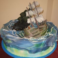 Superb 16 Best Pirates Of The Caribbean Cakes Images Pirates Of The Funny Birthday Cards Online Aeocydamsfinfo