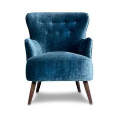 Betsy Armchair, Navy Velvet
