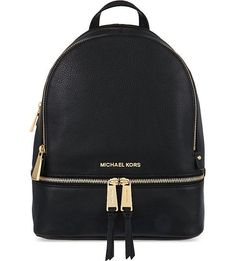 MICHAEL MICHAEL KORS Rhea small leather backpack (Black …