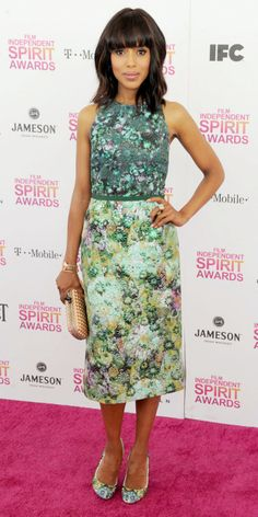 click for the details on Kerry Washington's floral look