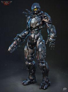 ArtStation - Cyborg, Alex Vasin