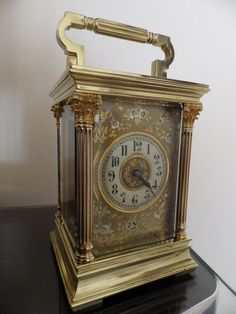 Beautiful French Carriage Clock Fully Restored Case Movement 1860 Stunning MSK   eBay