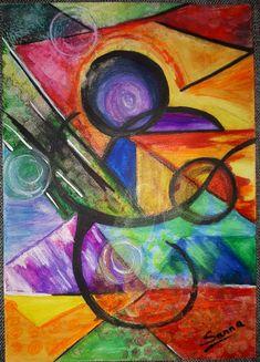Mixed media watercolor