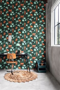 Delicious new designs to share with all of you! Versatile non-woven wall coverings that can be used in office and residential projects due to their unique substrate making the wallpaper durable and washable. Kids Bedroom Wallpaper, Dining Room Wallpaper, Home Wallpaper, Nature Wallpaper, Designers Guild, Paint Monkey, Flower Power, Monkey Wallpaper, Hospitality Design