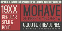 Mohave Font Free Download