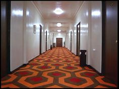 The Overlook Hotel in Stephen King's The Shining will (hopefully) soon become a destination for fans of the horror film and the horror genre. Monterey Bay Aquarium, Zoom Wallpaper, Pee Wee's Playhouse, Hotel Corridor, Hotel Carpet, Rick Y, Messy Room, Family Guy, Wall Carpet
