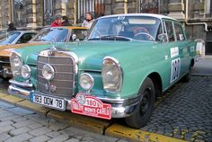 A very cool and well constructed veteran rally Mercedes-Benz. Probably a 220S