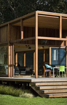 Barrier Island, New Zealand is this sustainably built home by Crosson, Clarke, Carnachan.