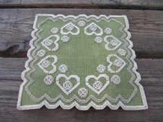Beautiful  swedish hand embroidered doilie made in the 1960s/hardanger