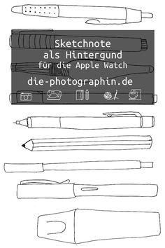 How to: Sketchnote als Hintergrundbild für die Apple Watch Apple Store, Sketch Notes, Lettering, Apple Watch, Math, Creative, Blog, Paper, Sketches