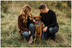 couple's anniversary portraits with their dog Fall Pictures, Cute Couple Pictures, Dog Pictures, Fall Pics, Family Pet Photography, Animal Photography, Holiday Photography, Engagement Photography, Photography Poses