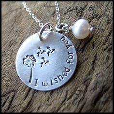 I Wished For You Necklace from David w/and August stone...