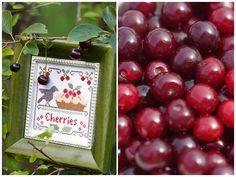 Cherries (Little House Needleworks) by loretoidas, via Flickr