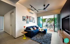 Here are Singapore's 2015 most popular homes and interior styles. Get inspired by Scandinavian, minimalist, eclectic, industrial and contemporary looks. Simple Living Room, Home And Living, Small Living, Living Room Designs, Living Room Decor, Living Rooms, Living Place, Minimalist Living, Minimalist Bedroom