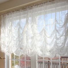 Superior Austrian Festoon Brail Roman Shabby Victorian Balloon Lace Curtain Blind  Shade | EBay Home Design Ideas