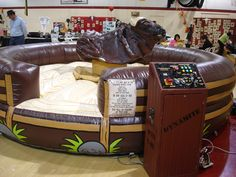 Mechanical Bull - Guaranteed for a Great Time! http://www.nypartyworks.com/products/inflatable-a-interactives/708-mechanical-bull