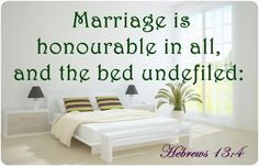 Hebrews 13:4 Hebrews 13 4, Marriage Bible Verses, Bed, Relationships, Google Search, Home Decor, Decoration Home, Stream Bed, Room Decor