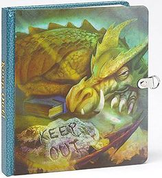 Peaceable Kingdom Press Keep Out! Dragon Picture-Changing Cover Lock & Ke...