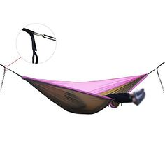 Premium Double Hammock Camping Hammock with Ripstop Nylon Perfect for the backpack travel and camping >>> Read more  at the image link.