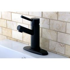 Straight Oil Rubbed Bronze Bathroom Faucet