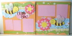 Busy Bee Premade 2 Page 12x12 Scrapbook Layout