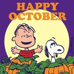 Snoopy ❤ Happy October
