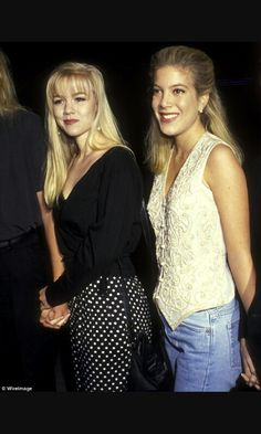 Jennie Garth and Tori Spelling in their Beverly Hills, 90210 days