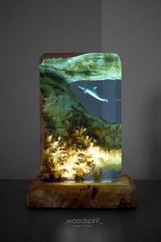 Diy Resin Art, Diy Resin Crafts, Epoxy Resin Wood, Resin Furniture, Laser Art, Handmade Lamps, Resin Table, Wood Lamps, Wooden Diy