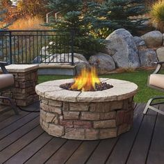 """Real Flame Sedona 43 in. x 17 in. Round Fiber-Concrete Propane Fire Pit in Buff with Natural Gas Conversion Fantastic """"fire pit diy backyard"""" information is offered on our website. Have a look and you wont be sorry you did. Gas Fire Table, Propane Fire Pit Table, Portable Propane Fire Pit, Fire Pit Table Top, Diy Fire Pit, Fire Pit Backyard, Fire Pit Ring, Camping Gaz, Porches"""