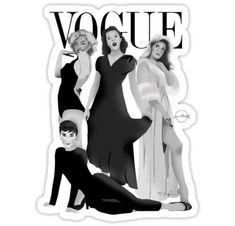 "'""VOGUE"" Marilyn Monroe, Judy Garland, Audrey Hepburn & Elizabeth Montgomery' Sticker by TeeShells Cute Laptop Stickers, Diy Stickers, Printable Stickers, Marilyn Monroe And Audrey Hepburn, Elizabeth Montgomery, Tumblr Stickers, Judy Garland, Aesthetic Stickers, Cute Illustration"