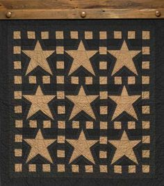 Blazing Star quilt from the Country Store of Geneva. I love that this is only in two colors and that neither are red, white, or blue.