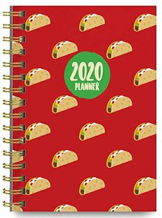 2020-Tacos-Soft-Cover-Academic-Year-Day-Planner-Book-by-Bright-Day-Weekly-Monthly-Dated-Agenda-Spiral-Bound-Organizer-16-Month-Calendar-625-x-825-Inch | Dollars for Tacos #planner #journal #tacos #tacolover #school