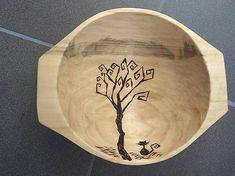 Svatava / Dlabaný vahanček 'jeseň v sade' Wood Crafts, Leather, Handmade, Hand Made, Wood Turning, Craft, Woodwork, Woodworking Projects, Handarbeit