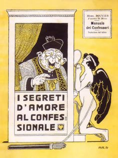 Antonio Rubino, 1910, cover for Il segreti d'amore al confessionale