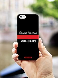 Inspired Cases Because She's Mine - Police Officer Thin Blue Line Case #inspiredcases #love #policeofficer