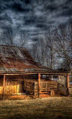 Old Farm Wagon Parked In Old Barn                              …                                                                                                                                                                                 More
