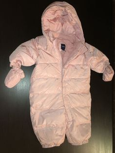 3a738953e GAP Pink Warmest Down Feather Filled Puffer Snowsuit 0-6 Months Winter ?? #  · Warm DownDown FeatherBaby Girl ...