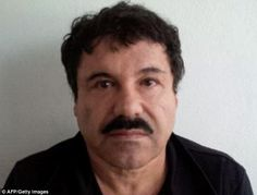 On the run: Joaquin 'El Chapo' Guzman, pictured in a mugshot last year, fled from his prison last night