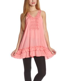 Look at this #zulilyfind! Simply Irresistible Pink Embroidered Tunic - Women by Simply Irresistible #zulilyfinds