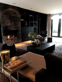 Awesome small living room designs are readily available on our internet site. Living Room Interior, Home Living Room, Living Room Decor, Warm Home Decor, Dark Interiors, Contemporary Interior Design, Modern Contemporary, My New Room, Home Fashion