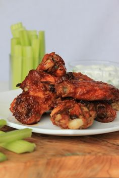 Chicken wings ala oven and homemade rub with homemade BBQ sauce. Can it get any better???