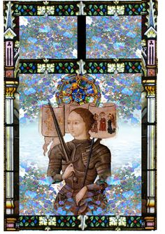 Vitrail, Sainte Jeanne d'Arc (Stained glass), created by perua4 on Polyvore